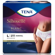 TENA SILHOUETTE Normal Large blanc 6x10 ST