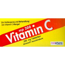 VITAMIN C 200 mg Tabletten 50 ST