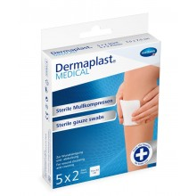 DERMAPLAST MEDICAL Mullkompresse steril 7,5x7,5 cm 531001 5x2 ST