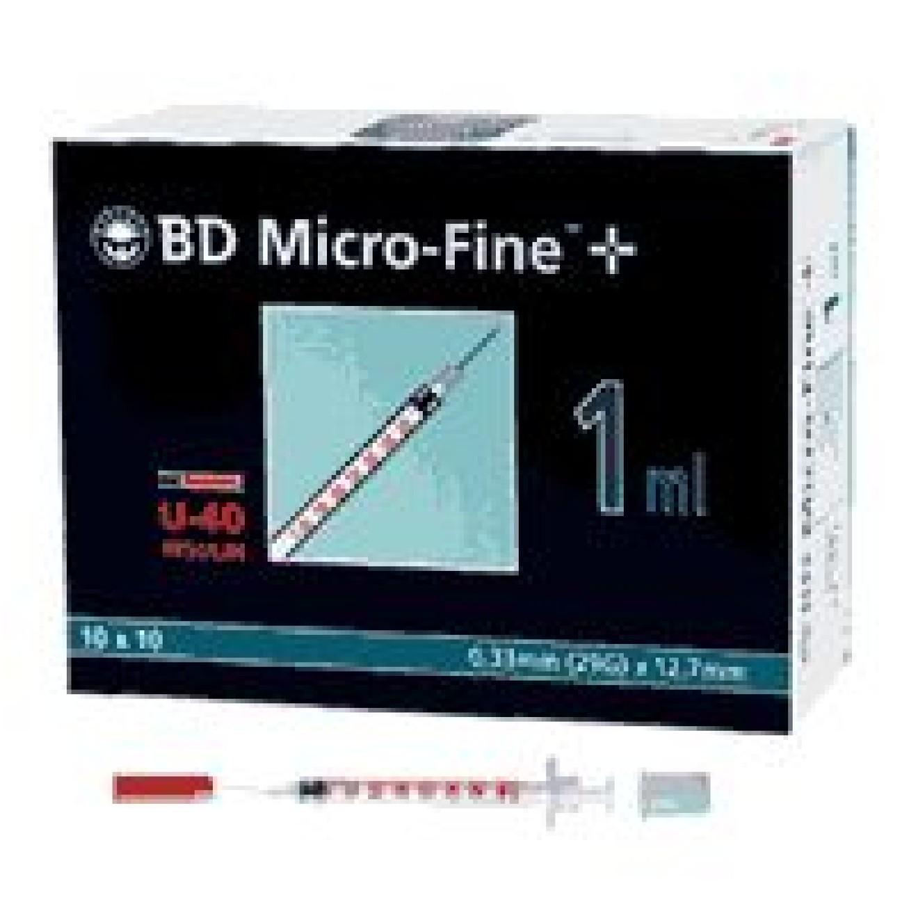 Bd Micro Fine U 40 Insulin Spritze 12 7 Mm 100x1 Ml Bestimed Shop Inkontinenz Und