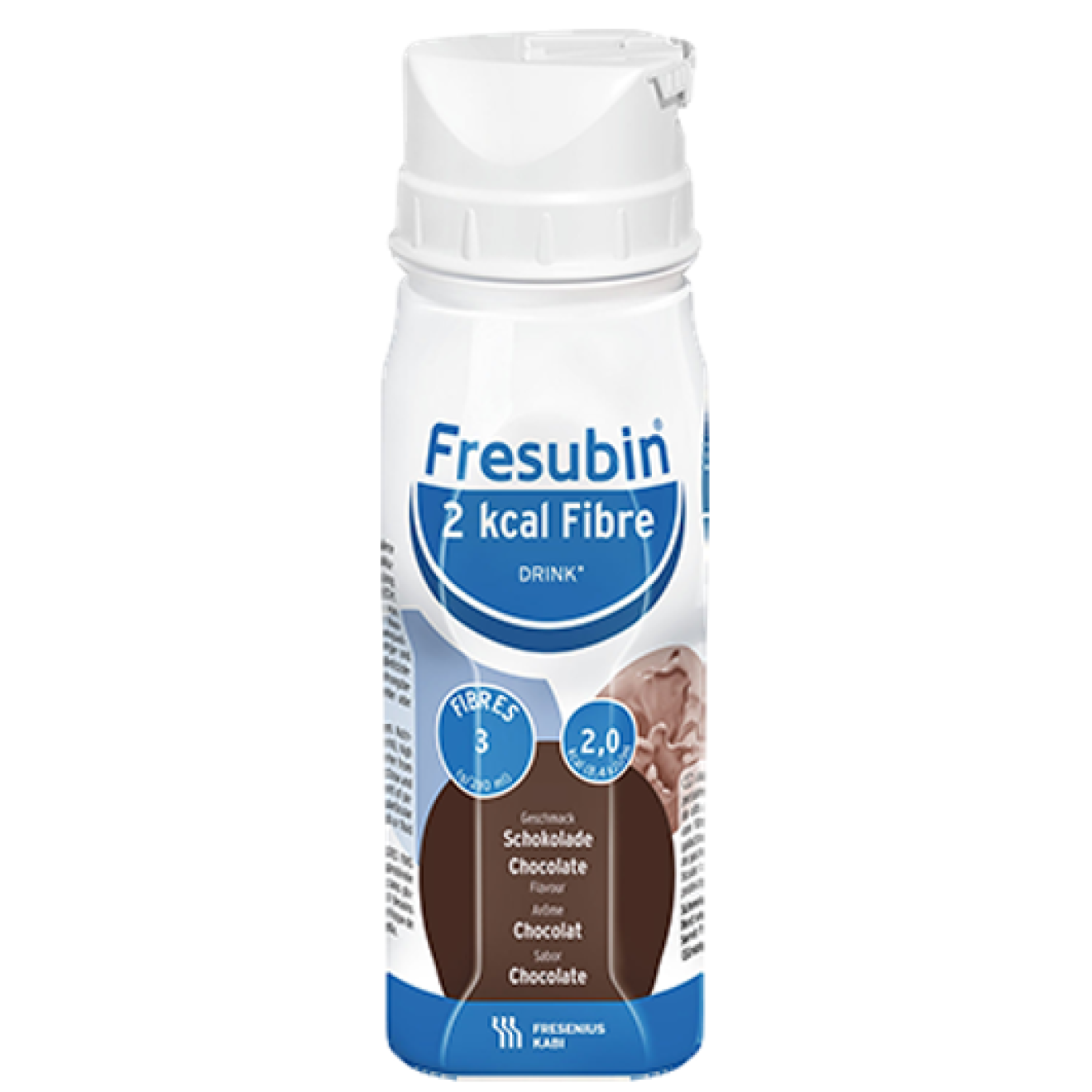 Fresubin 2 KCAL Fibre Drink Schokolade 4x200ml