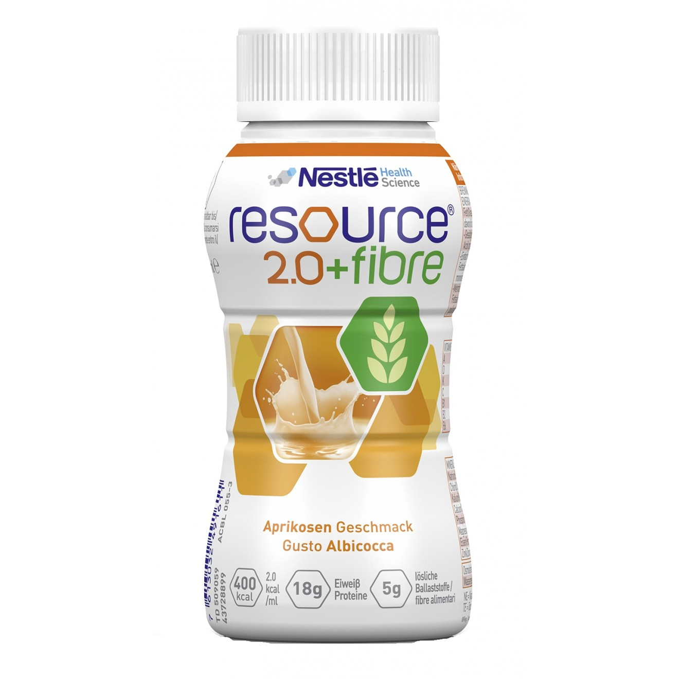 RESOURCE 2.0+fibre Aprikose 6x4x200ml