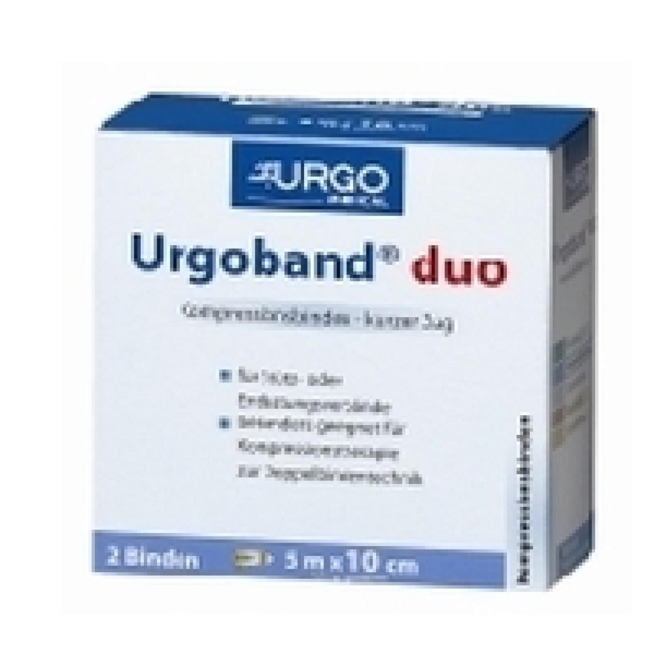 URGOBAND Duo Binde 10 cmx5 m 2 ST